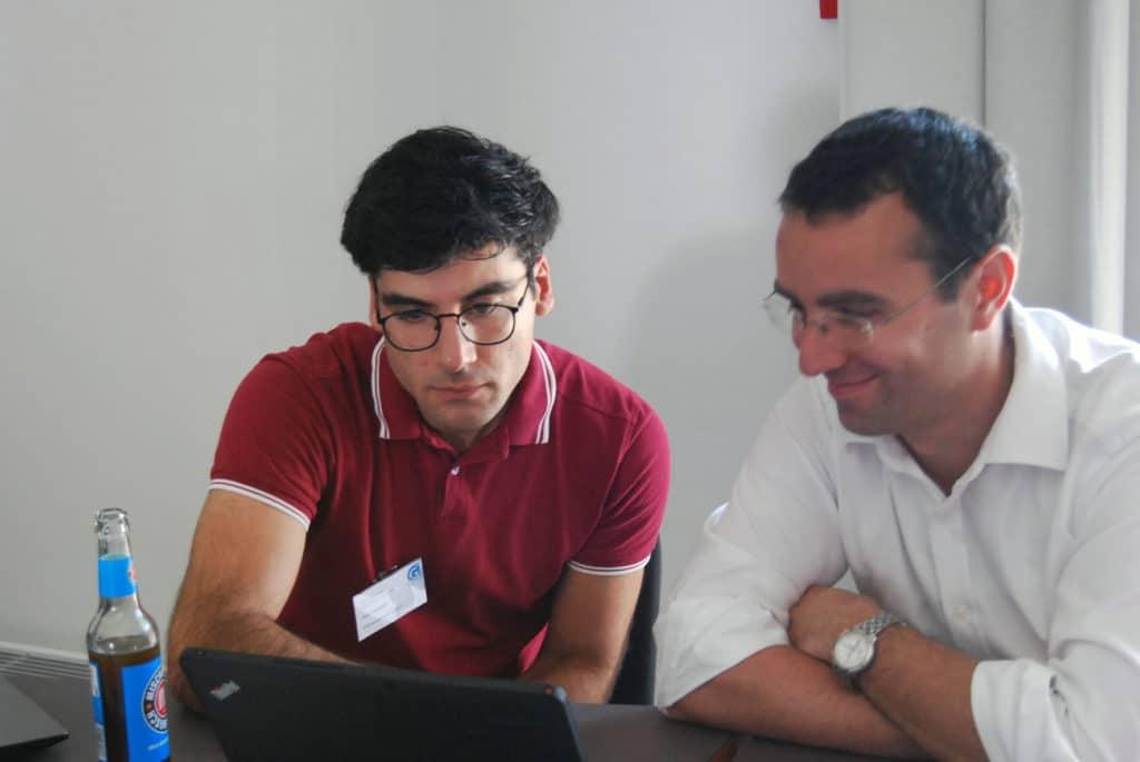 Entwickler Hadi Nategh im Workshop