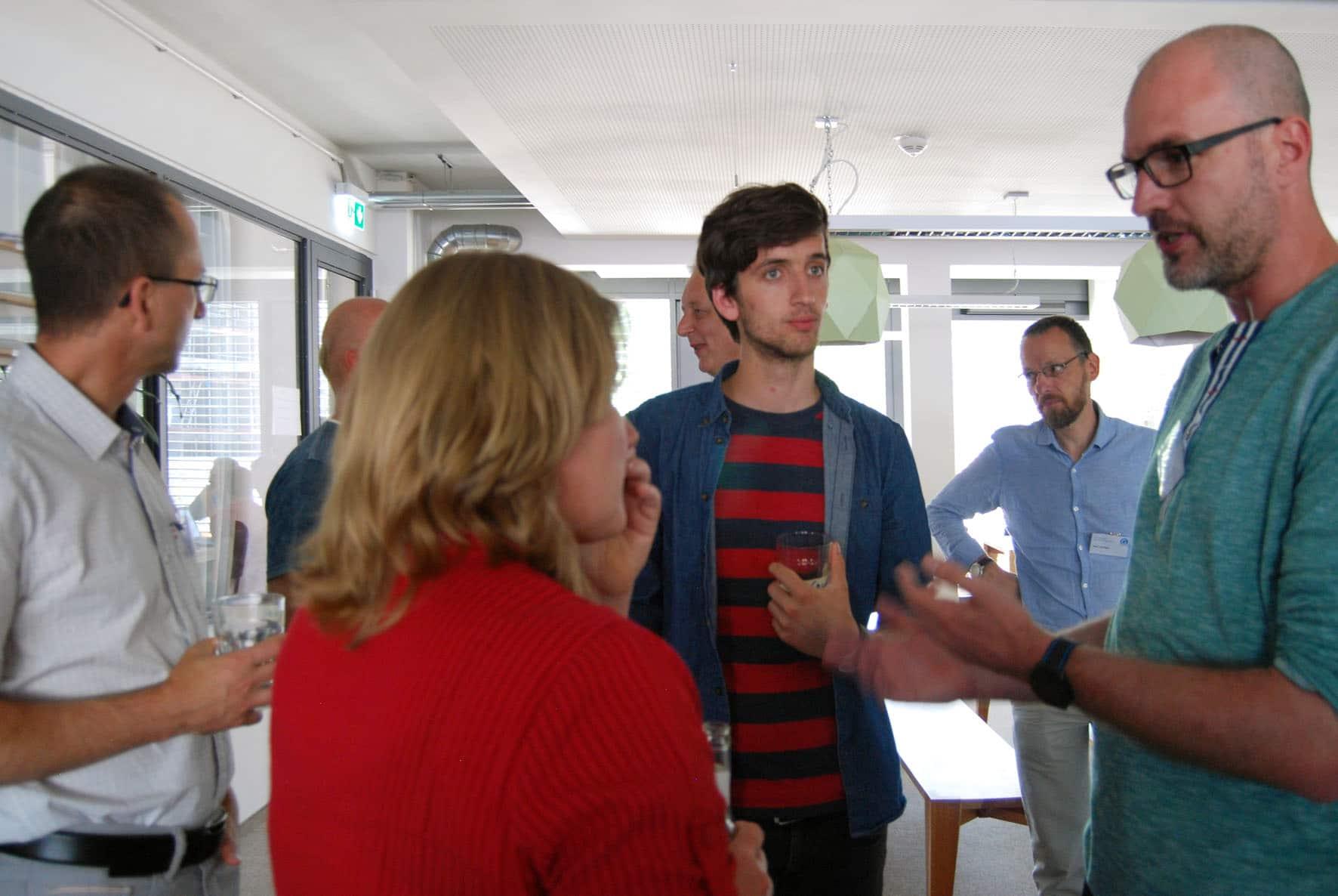 Birgit Becker im Gespräch mit Anwendern
