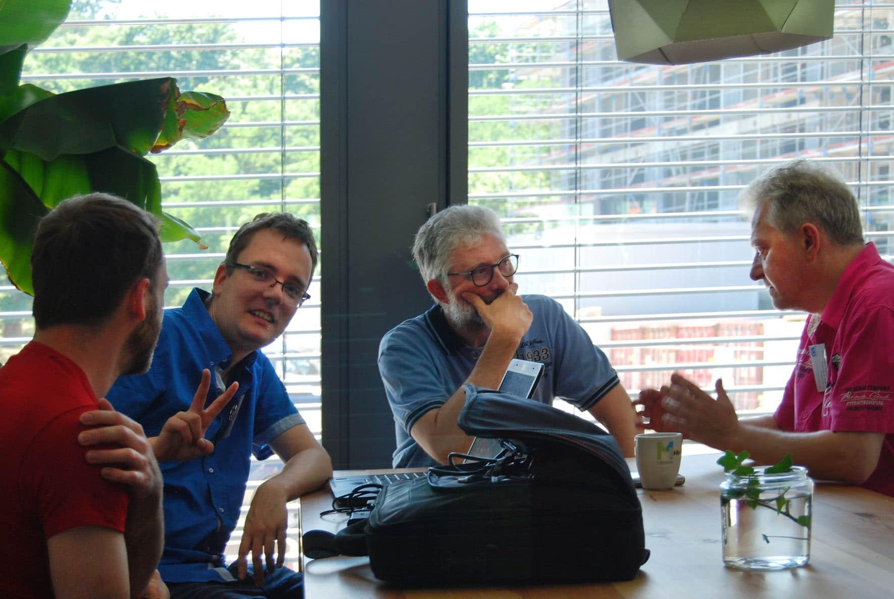 Maik Huettner und Stefan Werfling im Coworking Space
